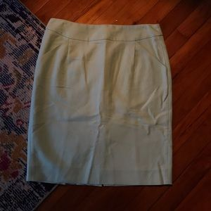J crew mint green pencil skirt size 8 p5